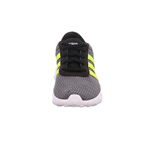 adidas Unisex-Kinder Lite Racer K Gymnastikschuhe, Grau Schwarz (Core Black/solar Yellow/ftwr White)