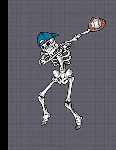 Dabbing Skeleton Baseball Player Notebook: Halloween Team School