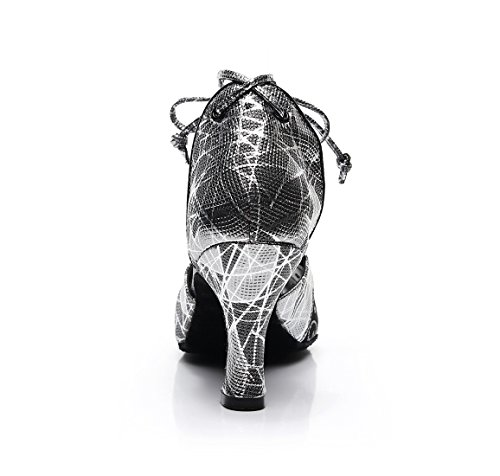 Grey Heel MinitooUK Danse Minitoo Salon QJ7160 Cm 8 de Femme x6qxzUAf