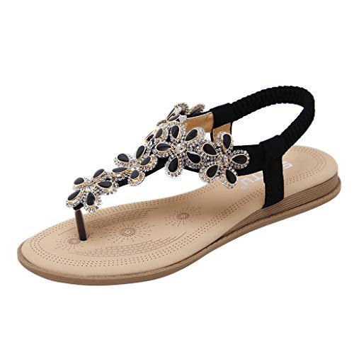 (Summer Casual Sandals for Women Fashion Band Flip Flops Wedges Sandals Work Shoes)
