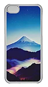 Customized iphone 5C PC Transparent Case - Hills Scenery Cover
