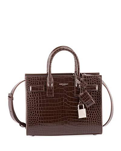 8aa66039116c Amazon.com  Saint Laurent Nano Sac de Jour Croco-Effect Satchel Bag made in  Italy  Shoes