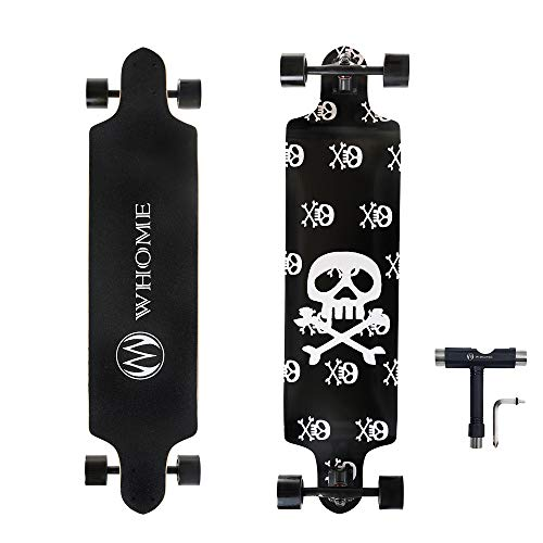 WHOME PRO Skateboard Complete for Adults and Beginners – 41 Inch Drop Down Longboard Complete Skateboard for Downhill…