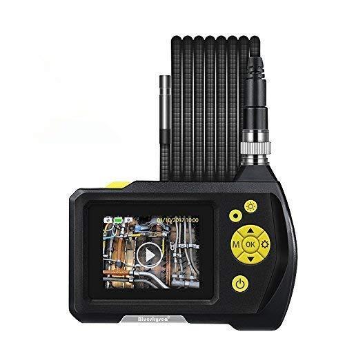 Blueskysea Digital Endoscope Waterproof Inspection Camera Handheld Borescope Snake Camera with 11.48ft/3.5m Semi Rigid Tube 2.7