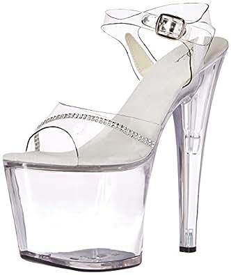 Ellie Shoes Womens 821-jewel 821-jewel Transparent Size: 6