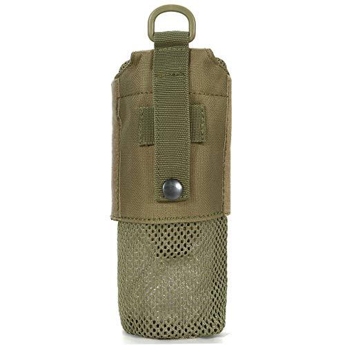 Bottle Holder Khaki - Faleto Mesh Lightweight Water Bottle Carrier Insulated Drawstring Water Bottle Holder Tactical Molle Water Bottles Pouch Bag,Khaki