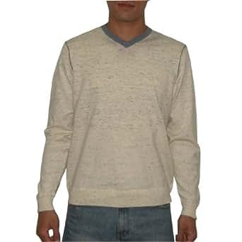 Tommy Bahama Mens V-Neck Fall / Winter Long Sleeve Jersey Shirt Medium Beige