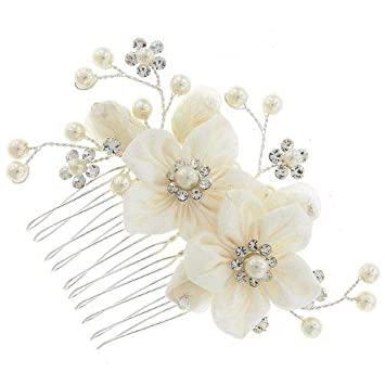 5 x SPARKLY DIAMANTE BRIDAL FLOWER HAIR PINS **LOTS OF COLOURS**