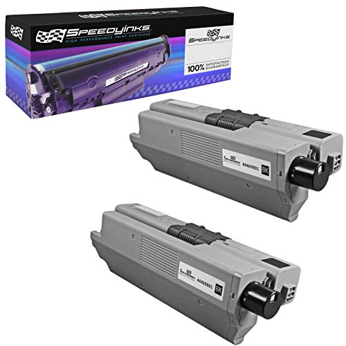 Speedy Inks Compatible Toner Cartridge Replacement for Okidata 44469801 Type C17 (Black, 2-Pack) ()