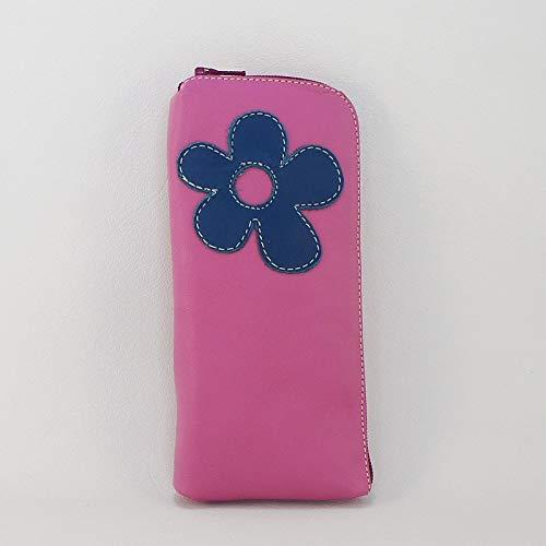 Funda de gafas de piel fucsia. Estuche de cuero para gafas de color rosa.: Amazon.es: Handmade