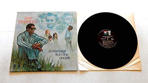 Ray Charles A MESSAGE FROM THE PEOPLE - ABC Records1972 - USED Vinyl LP Record - 1972 Pressing ABCX 755/TRC IN SHRINK WRAP - VERY RARE - Heaven Help Us All - America The Beautiful -