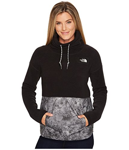 North Face Stone (The North Face Riit Pullover Peat Grey/Peat Grey Stonewash Print Women's Long Sleeve Pullover)