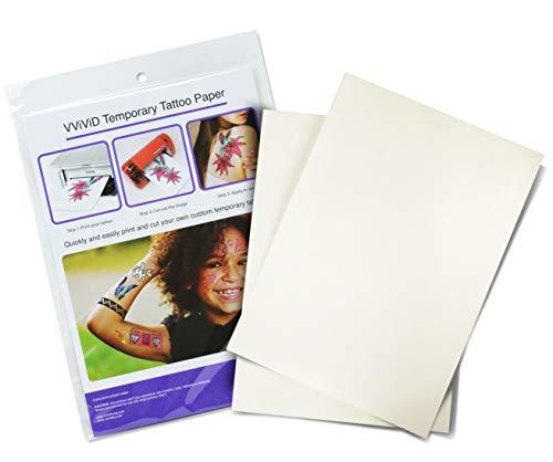 VViViD Inkjet Printable Temporary Rub-On Tattoo Paper 2-Sheet -
