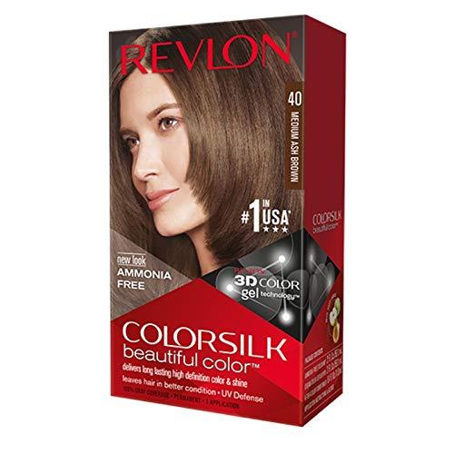 colorsilk Beautiful Color #40 Medium Ash Brown Revlon Hair Color 1 Application Unisex