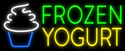 Frozen Yogurt Neon Sign - Made In USA