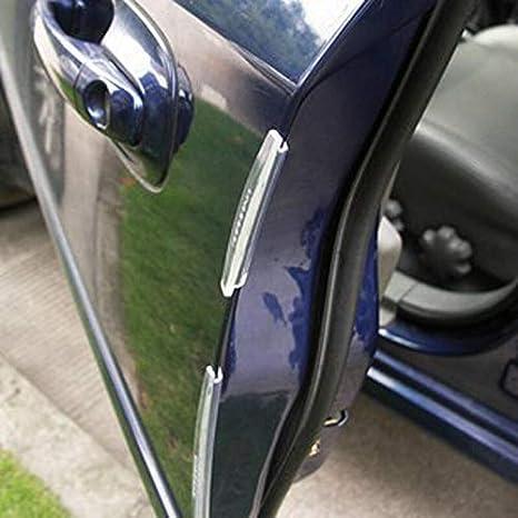 set del coche SUV puerta lateral protector de borde de banda de protecci/ón Raspe la Guardia paragolpes asa de la cubierta Negro Blanco Transparente Color : Black Tira de parachoques 8pcs