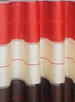FK-Lampem Lot de 2 Rideaux /à /œillets en Forme de Demi-Transparent avec /œillets 145 x 245 cm AGV