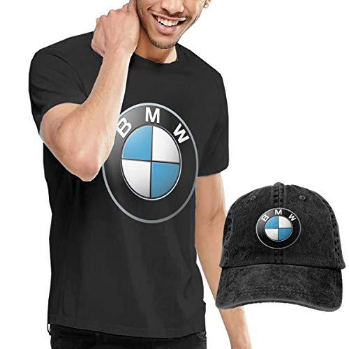 BMW_Logo Men's Classic T-Shirt with Washed Denim Baseball Hat - Classic Bmw Cap
