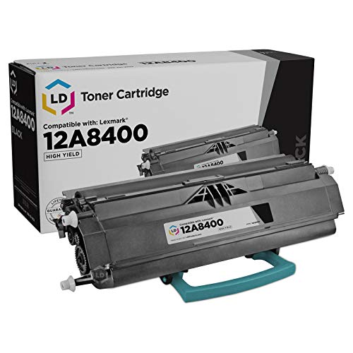 LD Remanufactured Toner Cartridge Replacement for Lexmark 12A8400 High Yield (Black)