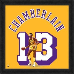 Biggsports Los Angeles Lakers Wilt Chamberlain 20X20 Framed Uniframe Jersey Photo