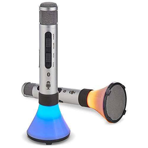 Singing Machine 2-Pk. Duet Karaoke Microphones with Portable Bluetooth Speaker