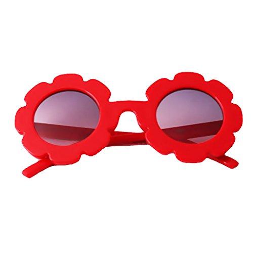 Decorativos Flower Baby Lindo se Regalo UVAccesorio Girl como Kids describe Plástico de Sun rojo Suave Casa de Fiestas Homyl Girl de rojo EdIpPwW6Iq