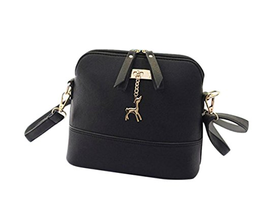 Medium CieKen Small Lightweight Deer with Pendant Bag Tassel Clearance Crossbody Black with qExOg8w8dn