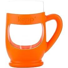Kupp' Glass Drinking Cup for Kids Orange by Kupp'