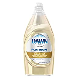 Dawn 91659 Liquid Dish Detergent with Bleach Alternative, Fresh Rapids, 28 oz. Bottle (Pack of 12)