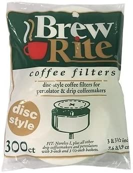 """Disc Coffee Filter for 3 and 3.5/"""" Percolator 300 Count"""