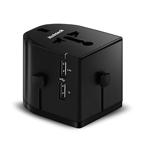 Price comparison product image Nekteck Universal International Travel Power Adapter / Worldwide Wall Charger with 3.4A Dual USB Ports for USA EU UK AUS and More