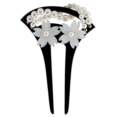 Frcolor Vintage Hair Pin Chopsticks U-Shaped Hairpin Hair Fork Clip for Women Girls (Black) ()