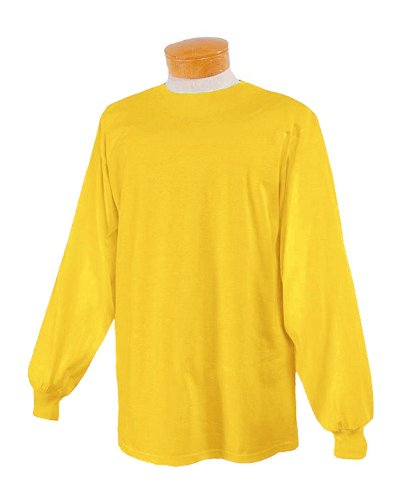 Price comparison product image Jerzees Men's Heavyweight Blend 50/50 Long Sleeve T-Shirt (Island Yellow, Large)