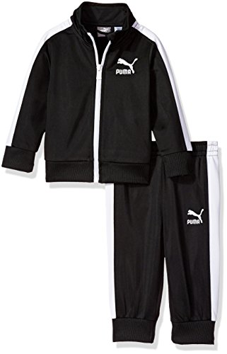PUMA Baby Boys' Track Set, Black, 18M