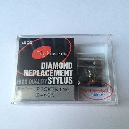 Jico Diamond Replacement High Quality Stylus Ellipse needle Black Pickering D-625