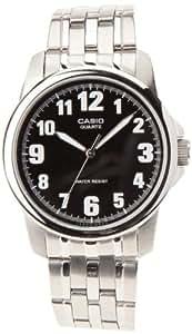Casio MTP-1259D-1AEF - Reloj analógico de caballero de cuarzo con correa de acero inoxidable plateada