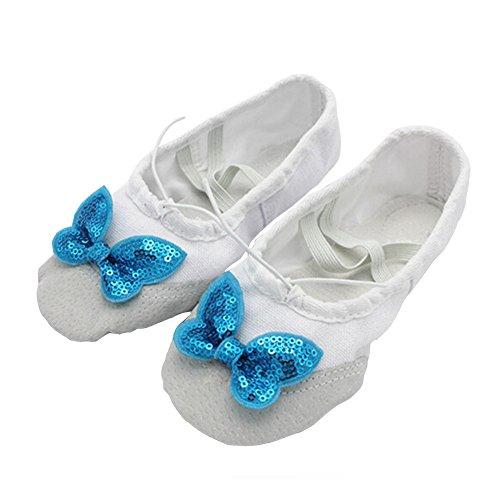 Lisianthus002 - Zapatillas de danza de Lona para niña multicolor - C