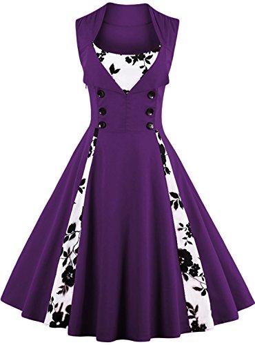 50s purple dress - 3