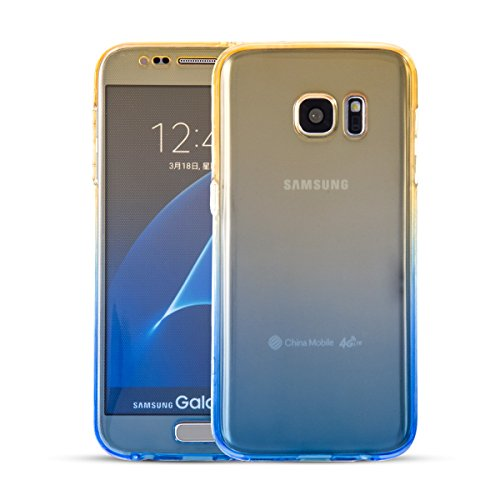 Funda Galaxy S6 Doble Case Cover, Sunroyal Transparente 360 Grados Smart Case Samsung S6 Carcasa Suave de Silicona TPU Doble Frontal y Trasera Full Body Protector Ultra Thin Completo Funda Protectora  B-04