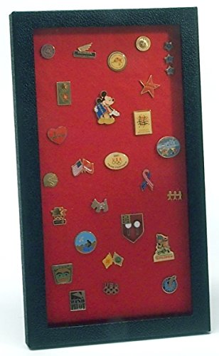 Pin Collector's Display Case - for Disney, Hard Rock, Olympic, Political Campaign & other collectible pins and medals - holds up to 100 pins - felt-covered backing, compact, handy magnetic closure