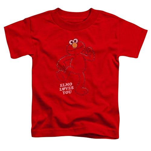 Toddler: Sesame Street- Elmo Loves You Baby T-Shirt Size 3T (Loves Street Elmo Sesame T-shirt)