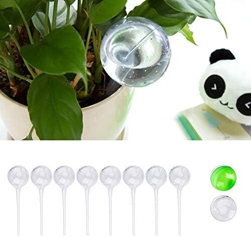 RAILONCH 8 x Bewässerungskugeln,Dosierte Bewässerung, 1-2 Wochen, Topfpflanzen, Kunststoff, Transparent, PVC (L,Transparent)