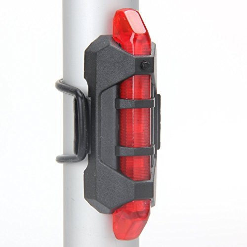 Angeli USB Rechargeable Bike Tail Light Ultra Bright Bike Light Waterproof Red LED Warning Light Fits On Any Road Bikes/Outdoor Riding Easy to Install for Cycling Safety Flashlight
