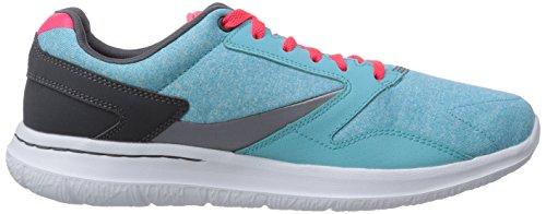 Blau Skechers City Walk Blu Aqua Sneaker nbsp;uptown Donna Go basse rwaq8rE