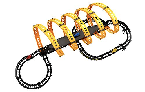 NBD Corp 5 Loop Action Race Car Track With The Style Colors, Race Car Track For Kids -