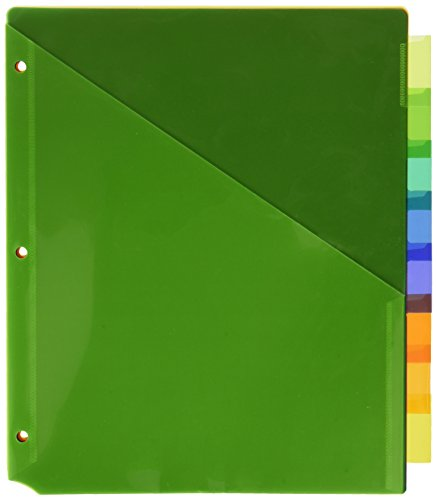 Insertable Avery Pockets (Avery Big Tab Insertable Two-Pocket Plastic Dividers, 8 Multicolor Tabs, Case Pack of 24 Sets (11907))