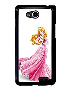 LG L90 Funda Case - Princess Aurora Extra Thin Plastic Funda Case Cover For LG L90