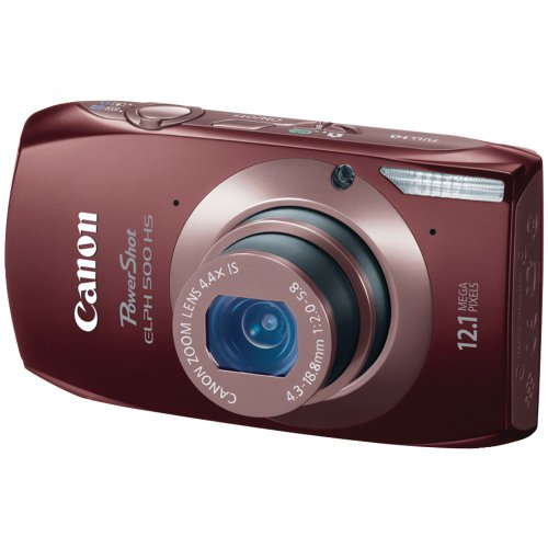 Cheap Canon PowerShot ELPH 500 HS 12.1 MP CMOS Digital Camera with Full HD Video and Ultra Wide Angle Lens (Brown)