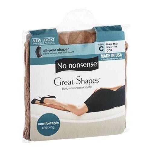 No Nonsense JQ4/CC4 Size C Beige Mist Great Shapes Nylons ()