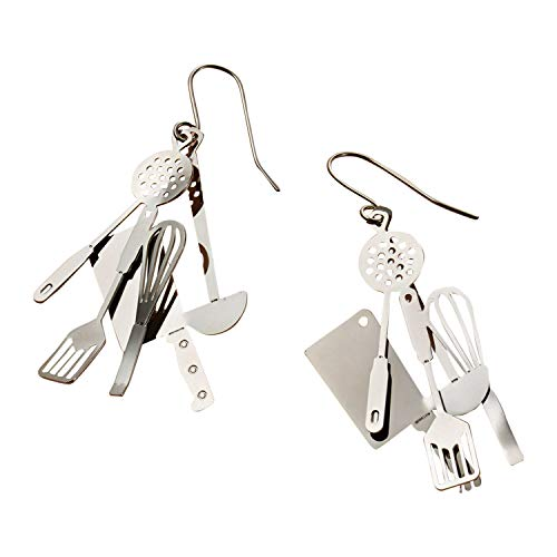 David Howell & Company Cook's Utensils Dangle Earrings - Chef's Kitchen Tools